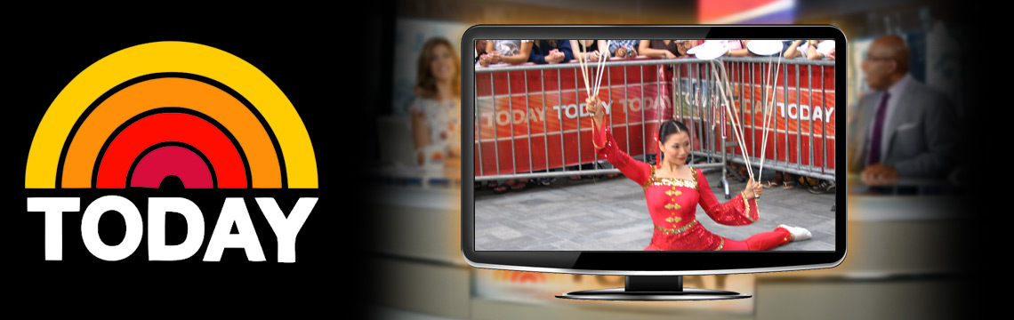 Acrobatic Show on Today Show Live
